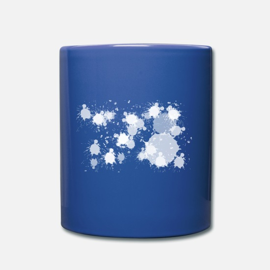 Make A Mess Mugs & Drinkware - speckle - Mug royal blue