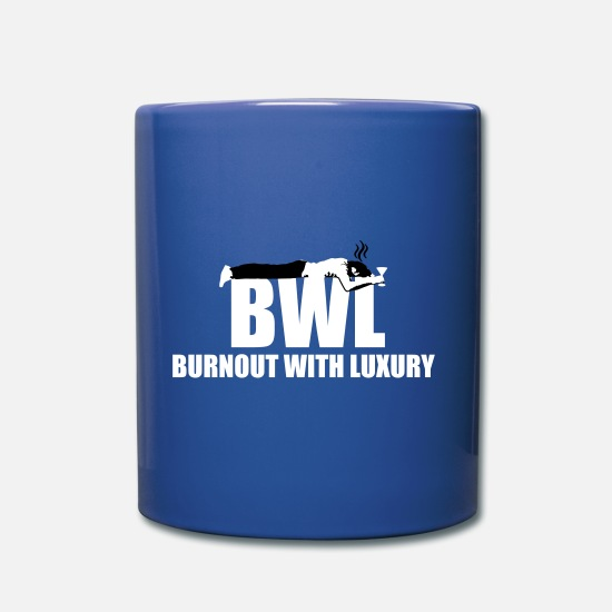 Exam Mugs & Drinkware - burnout with luxery - Mug royal blue