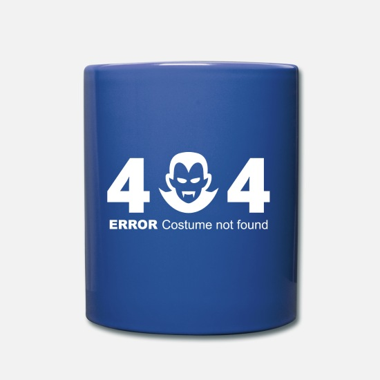 Gift Idea Mugs & Drinkware - 404 Error Costume not found - costume costume - Mug royal blue