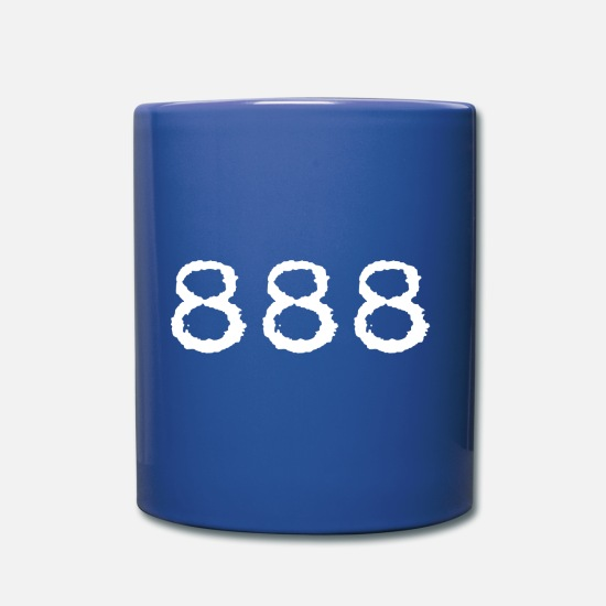 Number Mugs & Drinkware - 888 - Mug royal blue