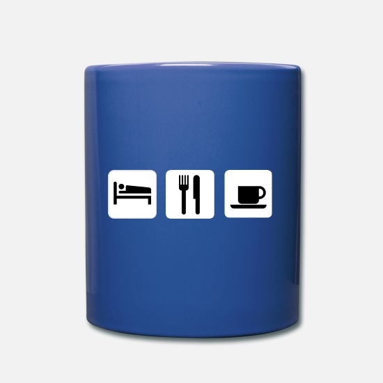 Gift Idea Mugs & Drinkware - Schlafen, Essen, Kaffee - Mug royal blue