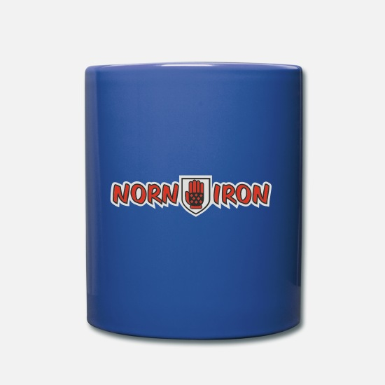 Gothic Mugs & Drinkware - Norn Iron Goth Glove [horizontal] - Mug royal blue