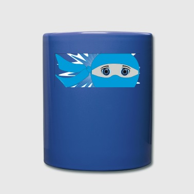 Blue Ninja Strip enmascarado con Starburst - Taza de un color