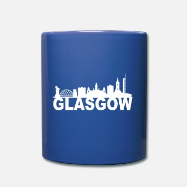 Città Idea di Glasgow Scotland Skyline Gift UK - Tazza monocolore