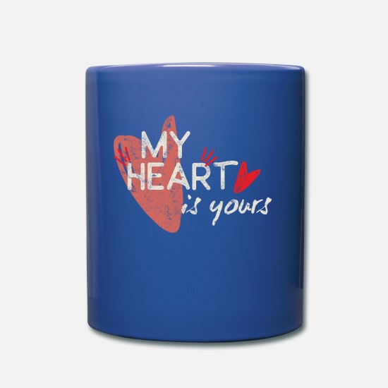 Love Mugs & Drinkware - my heart Belongs to you - Mug royal blue