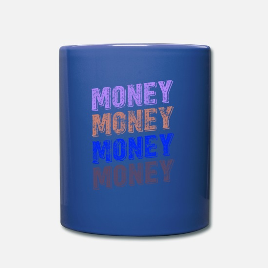 Rap Mugs & Drinkware - Money Money Cash - Mug royal blue