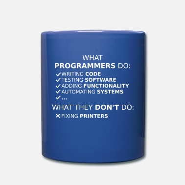 Program What programmers do and what they don't do (white) - Mug