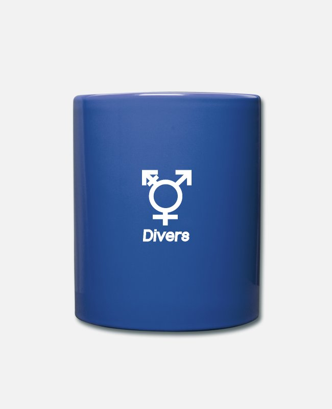 Away Mugs & Drinkware - Divers - sexuality DIRECTION determination - Mug royal blue