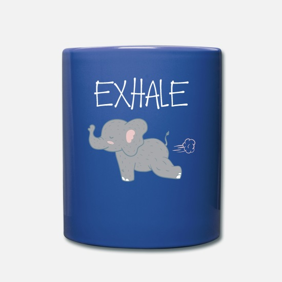 Gift Idea Mugs & Drinkware - Exhale and relax - Mug royal blue