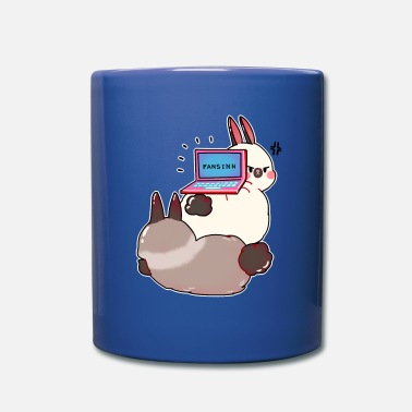 Rabbit Teeth Bunnies lazy internet notebook animal fur gift - Mug