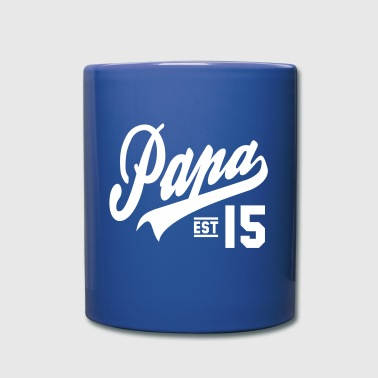 Papa ESTABLISHED 2015 Daddy Design - Full Colour Mug
