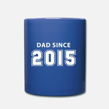 dad since 2015 - daddy design - Enfärgad mugg
