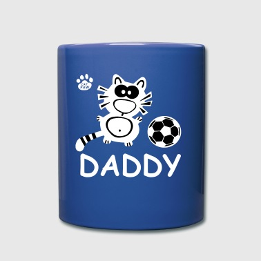 Catpaw Cat Cats Comic Fußball Daddy Dad Vater Papa - Full Colour Mug