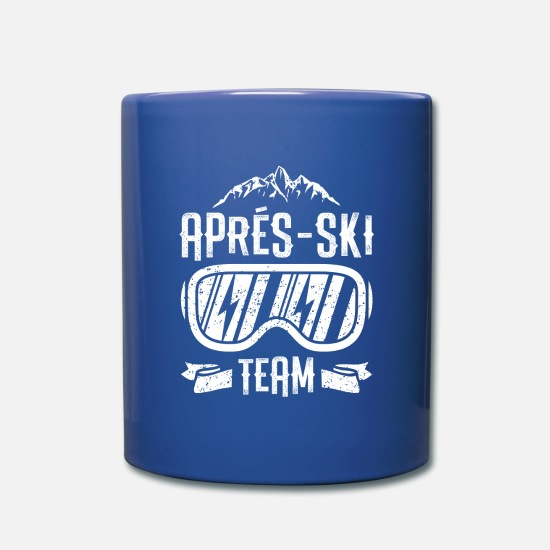 Group Mugs & Drinkware - apres ski team ski goggles - Mug royal blue