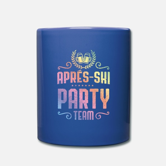 Group Mugs & Drinkware - Apres ski beer colorful - Mug royal blue