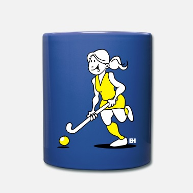 Hockey Su Prato Hockey su prato. Una ragazza di hockey. - Tazza monocolore
