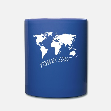 Wanderlust Travel Love Wanderlust World Map - Tazza monocolore