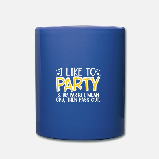 Gift Idea Mugs & Drinkware - Party, howling and snoozing, kids and babies - Mug royal blue
