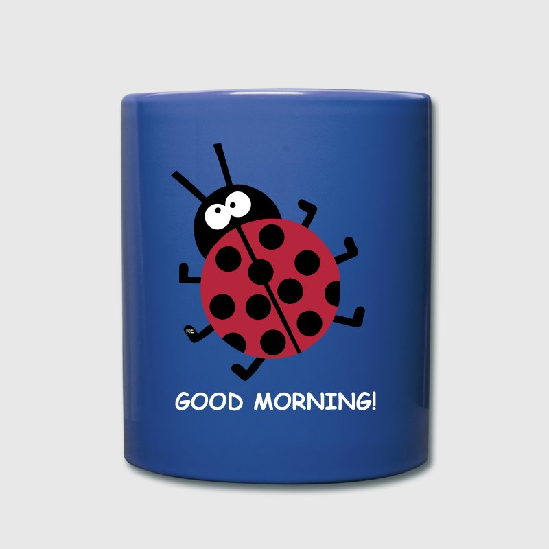 Good Morning Ladybug Beetle Party Love Peace - Taza de un color