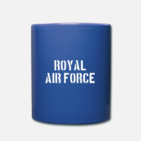 Force Mugs et récipients - Royel Air Force - Pilote - Avion - Avion - Jet - Mug bleu royal