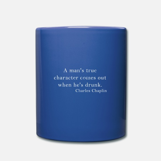 Superstar Mugs & Drinkware - Charlie Chaplin Quote, Quote, English, Comedian - Mug royal blue