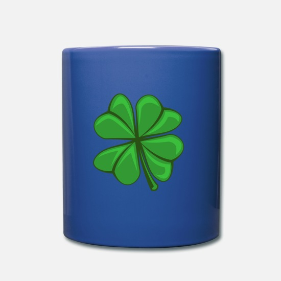 St Mugs & Drinkware - cloverleaf - Mug royal blue