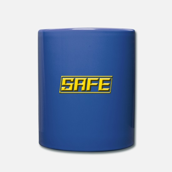 Birthday Mugs & Drinkware - safe gold - Mug royal blue