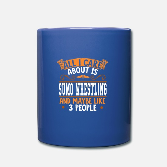 Sumo Wrestlers Cup Mugs & Drinkware - I love sumo - Mug royal blue