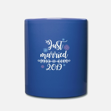 Bestman Just Married Wedding Couple T-paita 2019 naisille - Yksivärinen muki