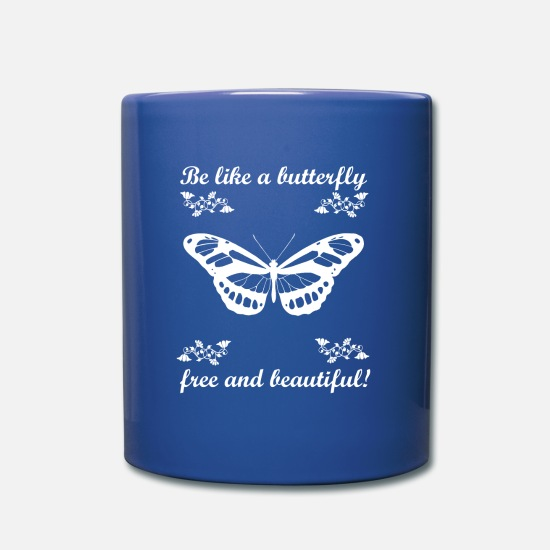Gift Idea Mugs & Drinkware - Butterfly Nature Joie de vivre gift idea - Mug royal blue