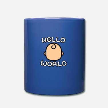 Cicogna Baby dire Hello World - Tazza monocolore
