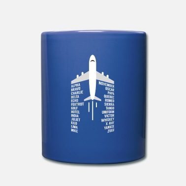 Aviation Aviation pilot airplane phonetic alphabet - Mug