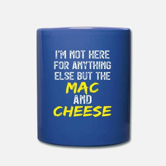 Fromage Mugs et récipients - Mac N Cheese Macaroni Fromage - Mug bleu royal