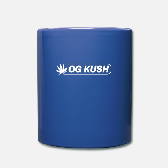 Rap Mugs et récipients - og kush weed cannabis - Mug bleu royal