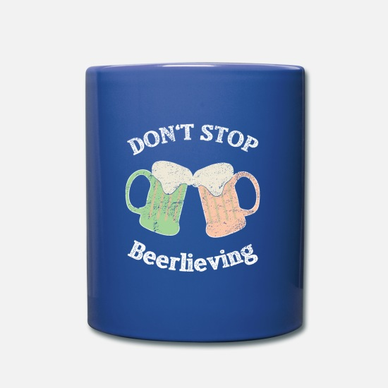 Ubriaco Tazze & Accessori - Do not Stop Beer Lending Irish Pub Beer Gift - Tazza blu royal