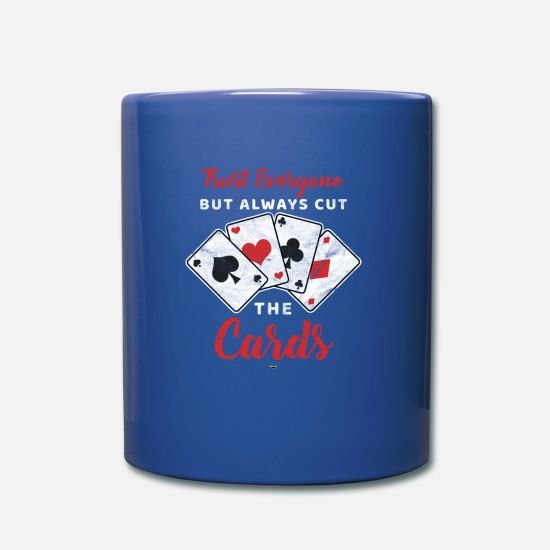 Gift Idea Mugs & Drinkware - COOL POKERSHIRT HEART ASS ROYAL FLUSH POKER POISON - Mug royal blue