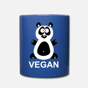 Trillo Vegan Panda Statement Veggie Bear Pandabear - Tazza monocolore