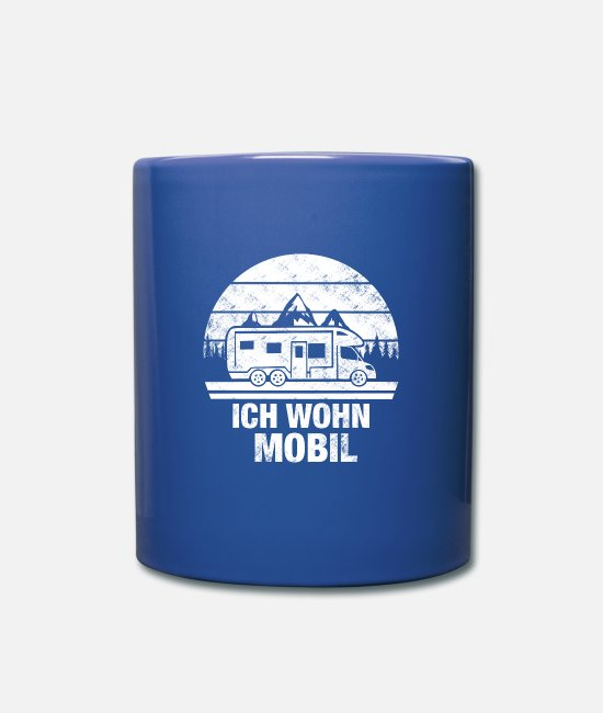 Tent Mugs & Drinkware - CAMPING CAMPER TENTS MOUNTAINS - Mug royal blue
