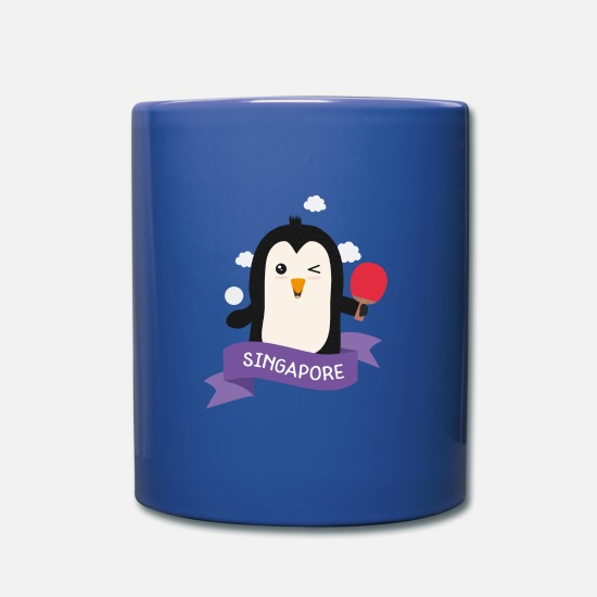 Play Mugs & Drinkware - Penguin table tennis from SINGAPORE Gift - Mug royal blue
