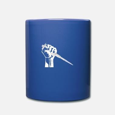 Worker fist with pipette - nerd science w - Mug