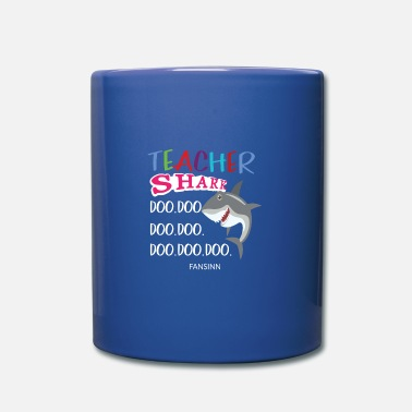 Writing Teacher shark fish danger animal water sea gift - Mug