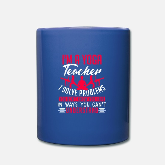 Gift Idea Mugs & Drinkware - Yoga teacher - Mug royal blue
