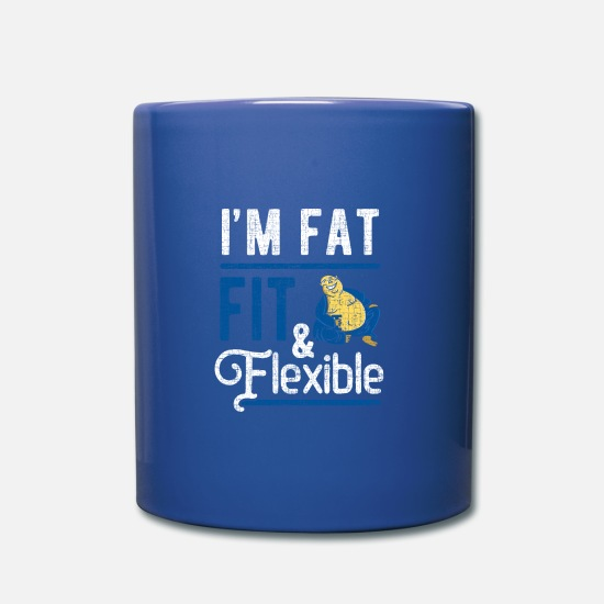 Christmas Present Mugs & Drinkware - Fat man fat - Mug royal blue