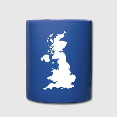 Karte UK, UK Map - Tasse einfarbig