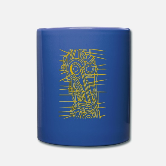 Art Mugs et récipients - machine - Mug bleu royal