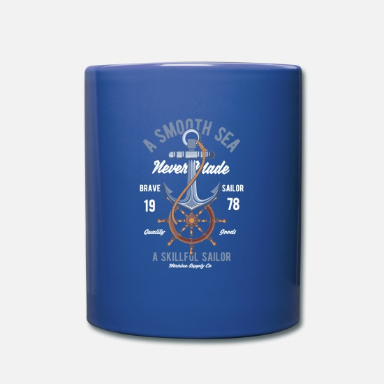 Fisherman Mugs & Drinkware - Anchor sailing oars - Mug royal blue