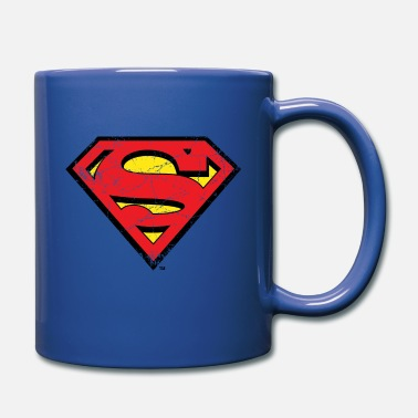 DC Comics Superman Logo Used Look - Tasse einfarbig