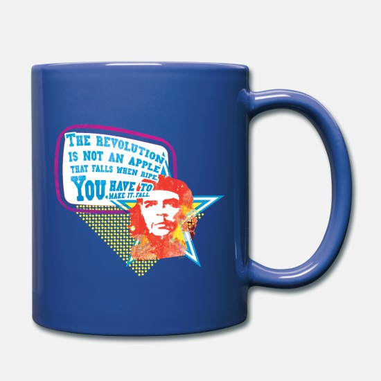"Che Guevara Tassen & Becher - Che Guevara Tasse ""The Revolution is not an Apple"" - Tasse Royalblau"