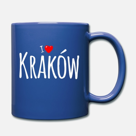 Polacco Tazze & Accessori - Cracovia amore - Tazza blu royal