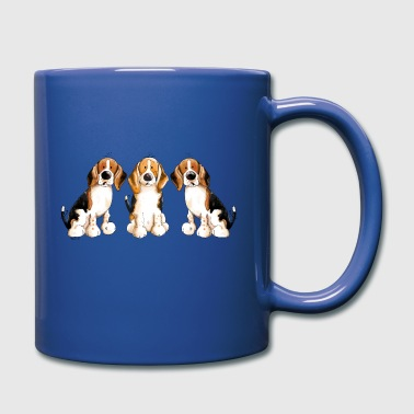 Tres Beagles - Taza de un color